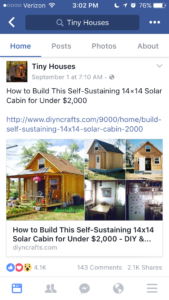 Facebook Article - Tiny Houses